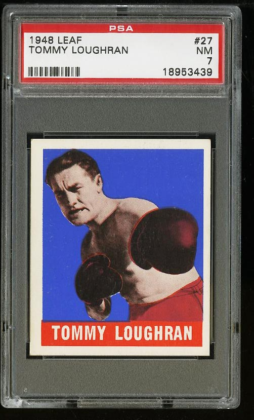 Image of: 1948 Leaf Boxing Tommy Loughran #27 PSA 7 NRMT (PWCC)