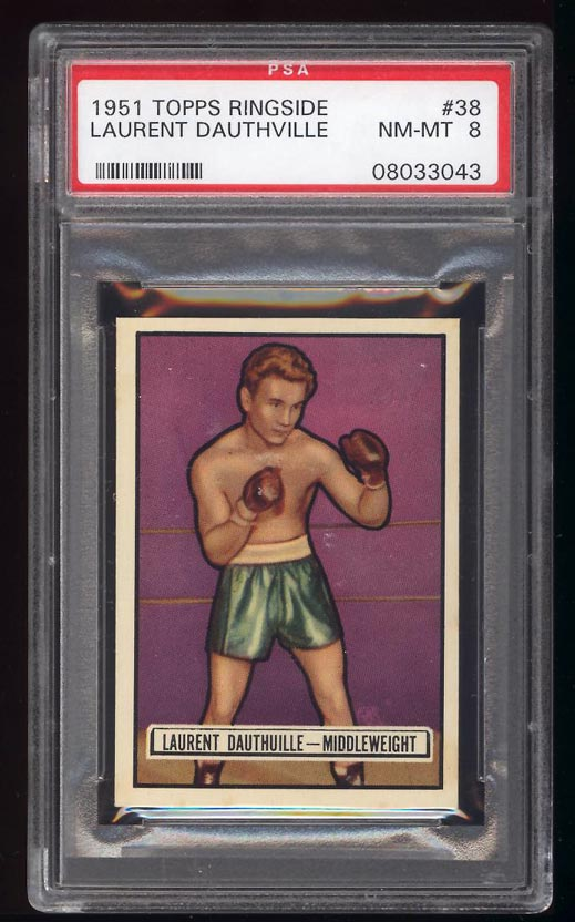 Image of: 1951 Topps Ringside Laurent Dauthuille #38 PSA 8 NM-MT (PWCC)