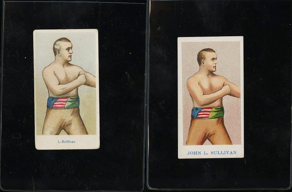 Image of: Lot(2) 1910 E75 American Caramel Boxing John L. Sullivan #19, GD to VG (PWCC)