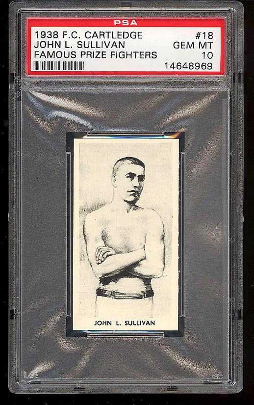 Image of: 1938 Cartledge Famous Prize Fighters John L. Sullivan PSA 10 GEM MINT (PWCC)