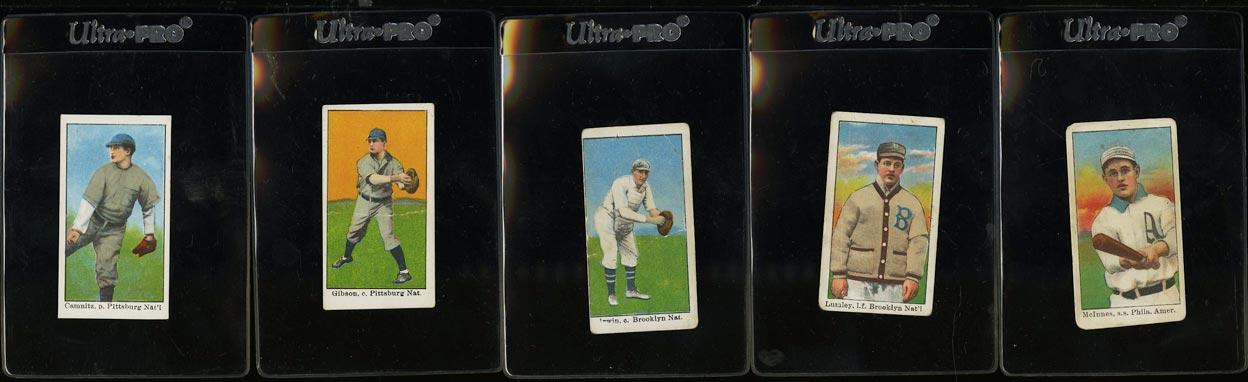 Image of: Lot(5) 1909 E90-1 American Caramel Camnitz Gibson Lumley Irwin, PR to GD (PWCC)