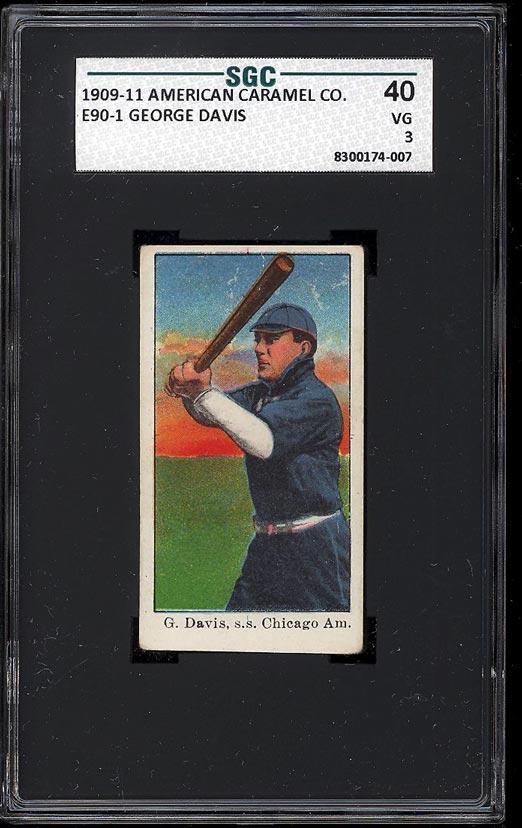 Image of: 1909 E90-1 American Caramel George Davis SGC 3 VG (PWCC)