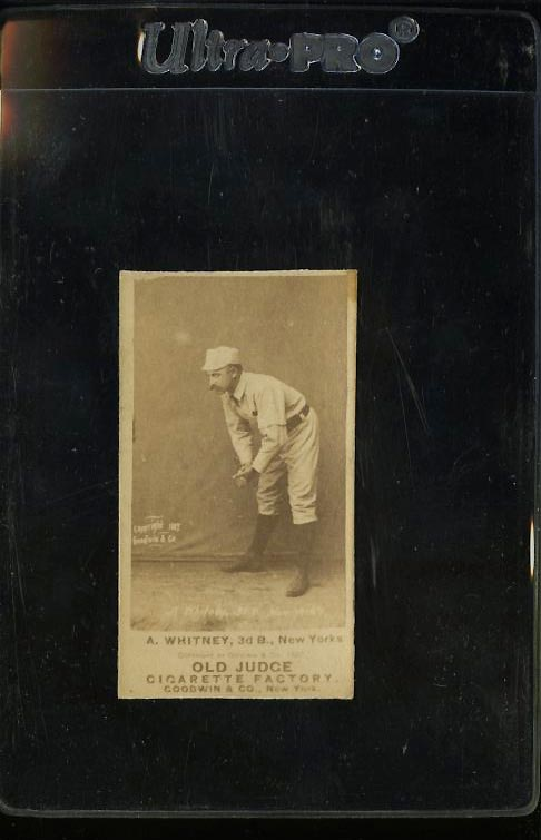Image of: 1887 N172 Old Judge A. Whitney NEW YORK, VG (PWCC)