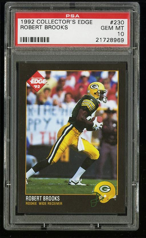 Image of: 1992 Collector's Edge Robert Brooks ROOKIE RC #230 PSA 10 GEM MINT (PWCC)