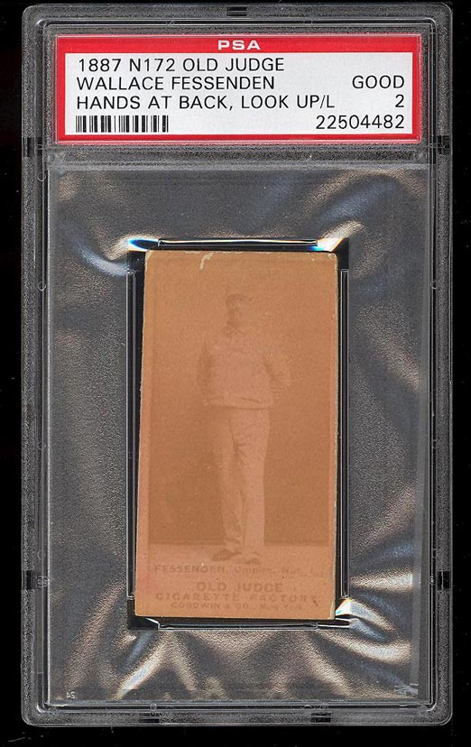 Image of: 1887 N172 Old Judge Wallace Fessenden HANDS AT BACK, LOOK UP PSA 2 GD (PWCC)