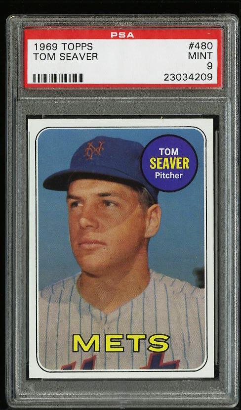 Image of: 1969 Topps Tom Seaver #480 PSA 9 MINT (PWCC)