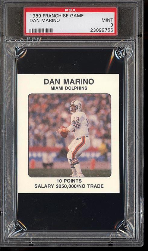 Image of: 1989 Franchise Game Football Dan Marino PSA 9 MINT (PWCC)