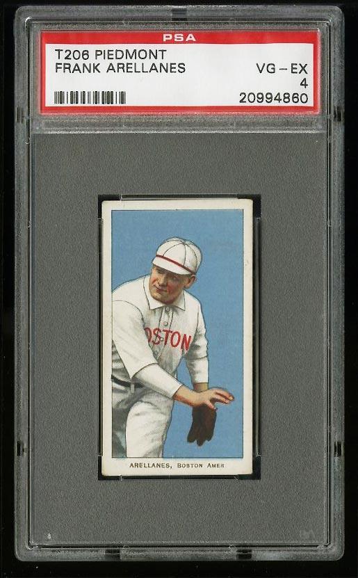 Image of: 1909-11 T206 Frank Arellanes PSA 4 VGEX (PWCC)