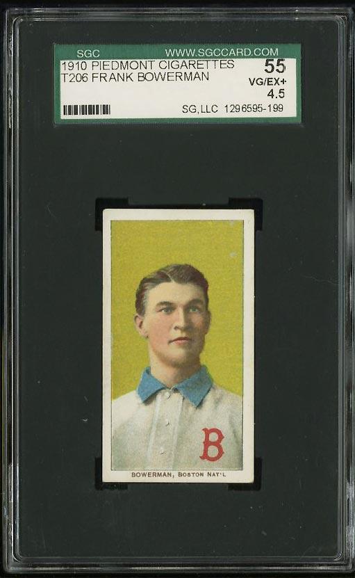 Image of: 1909-11 T206 Frank Bowerman SGC 4.5 VGEX+ (PWCC)