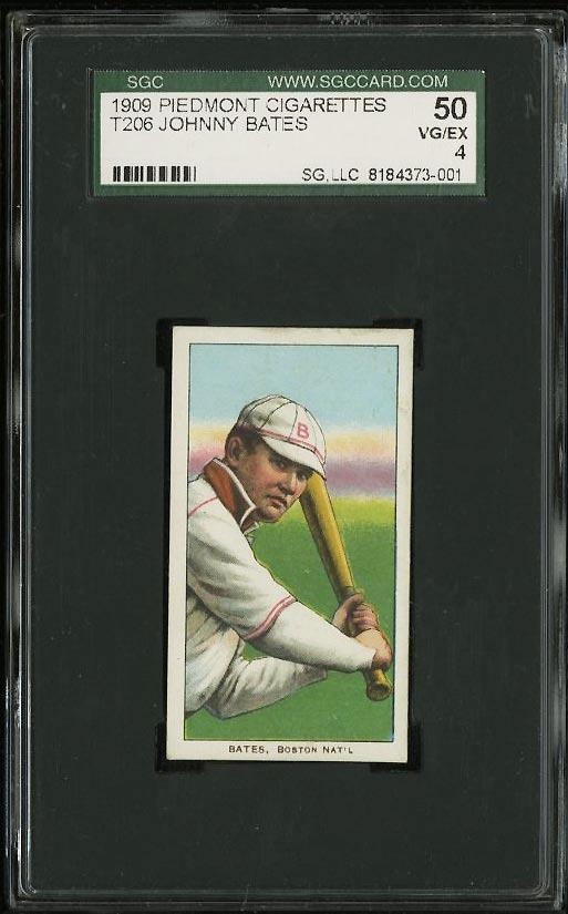 Image of: 1909-11 T206 Johnny Bates SGC 4 VGEX (PWCC)