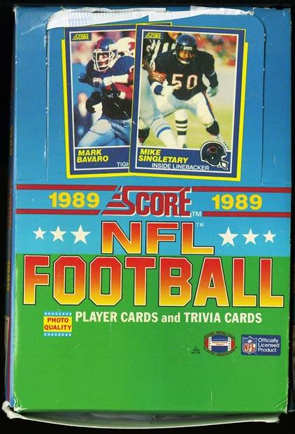 Image of: 1989 Score Football 35ct Factory Box, Aikman Sanders Joe Montana NM-MT (PWCC)
