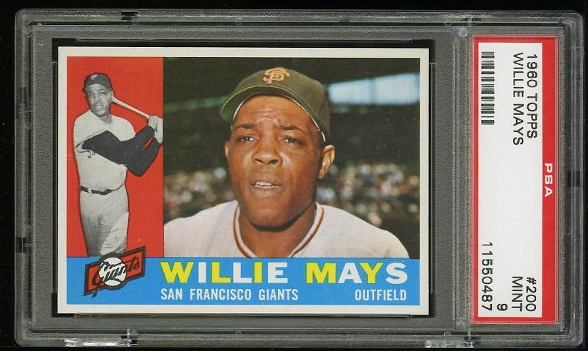 Image of: 1960 Topps Willie Mays #200 PSA 9 MINT (PWCC)