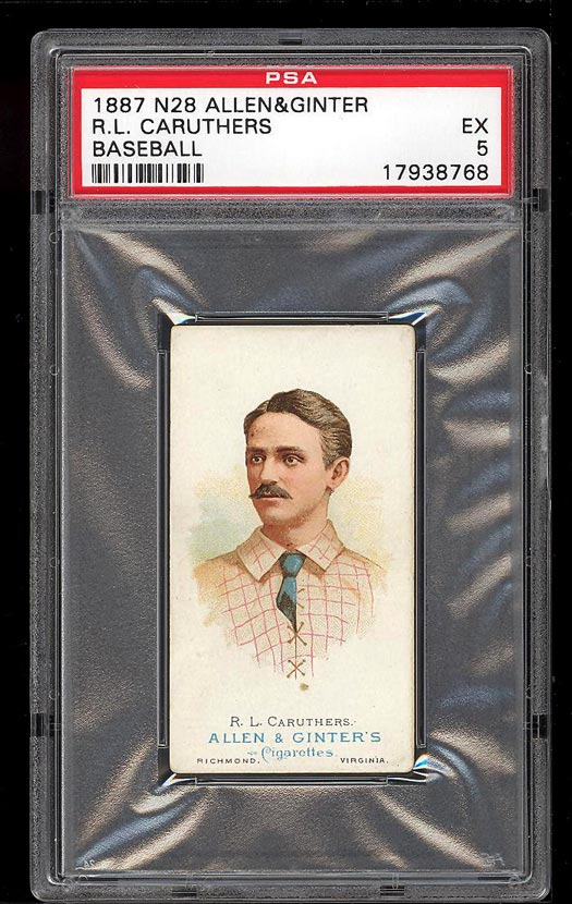 Image of: 1887 N28 Allen & Ginter R.L. Caruthers PSA 5 EX (PWCC)