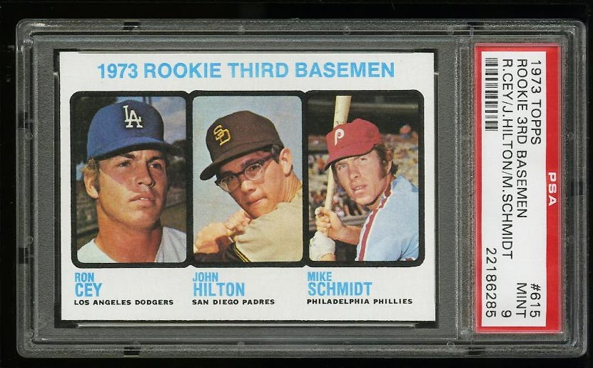 Image of: 1973 Topps Mike Schmidt ROOKIE RC #615 PSA 9 MINT (PWCC)