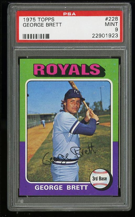Image of: 1975 Topps George Brett ROOKIE RC #228 PSA 9 MINT (PWCC)
