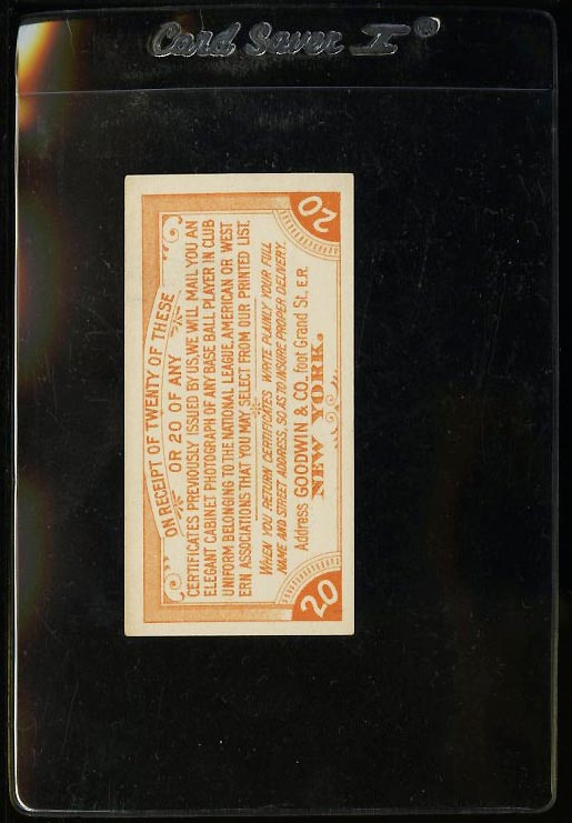 Image of: 1887 Goodwin & Co. Old Judge Coupon Redemption, EXMT (PWCC)