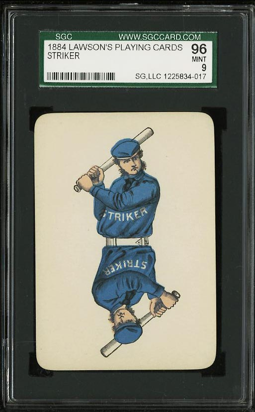 Image of: 1884 Lawson's Playing Cards Striker SGC 9 MINT (PWCC)