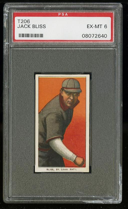 Image of: 1909-11 T206 Jack Bliss PSA 6 EXMT (PWCC)