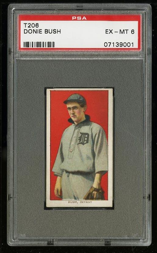 Image of: 1909-11 T206 Donie Bush PSA 6 EXMT (PWCC)