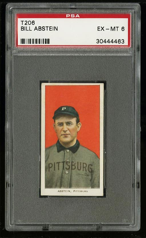 Image of: 1909-11 T206 Bill Abstein PSA 6 EXMT (PWCC)