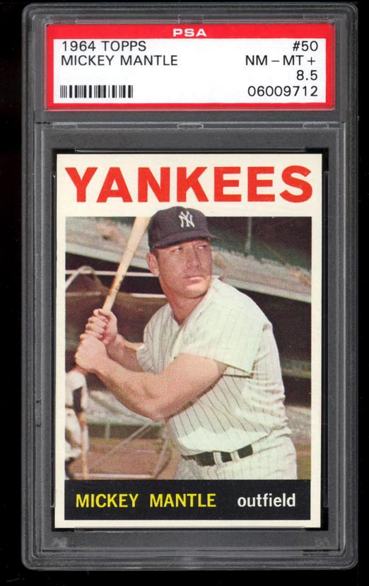 Image of: 1964 Topps Mickey Mantle #50 PSA 8.5 NM-MT+ (PWCC)