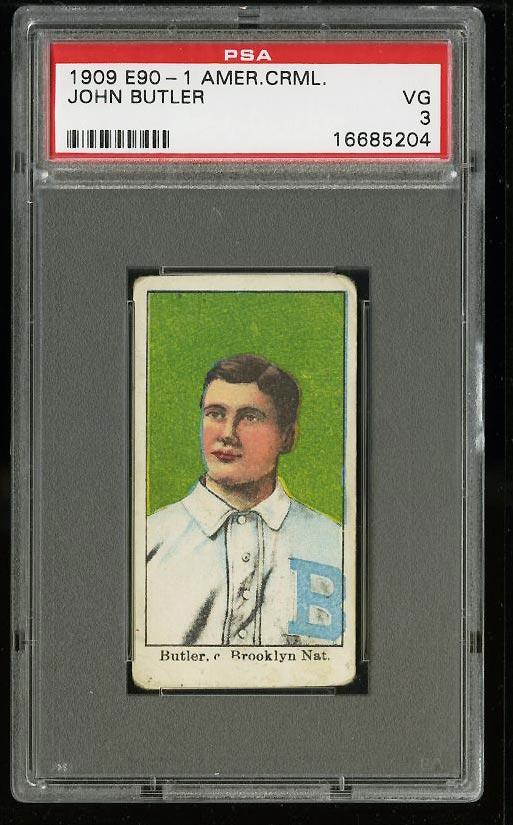 Image of: 1909 E90-1 American Caramel John Butler PSA 3 VG (PWCC)