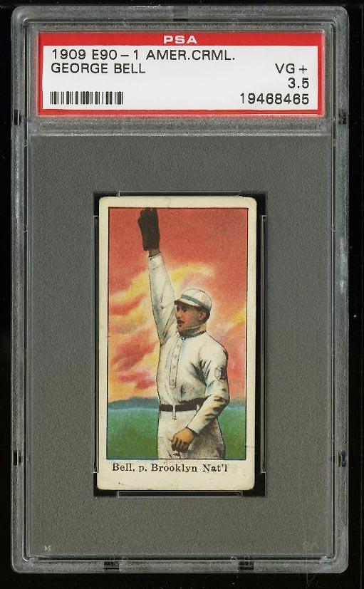 Image of: 1909 E90-1 American Caramel George Bell PSA 3.5 VG+ (PWCC)
