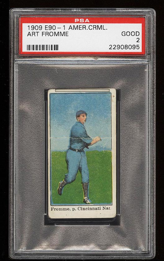 Image of: 1909 E90-1 American Caramel Art Fromme PSA 2 GD (PWCC)