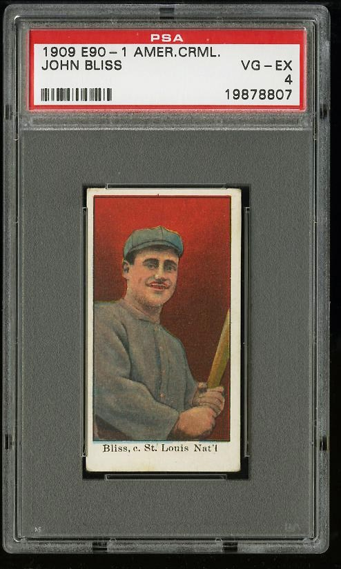Image of: 1909 E90-1 American Caramel John Bliss PSA 4 VGEX (PWCC)