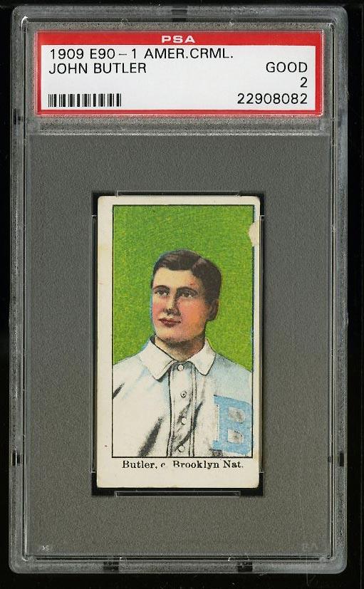 Image of: 1909 E90-1 American Caramel John Butler PSA 2 GD (PWCC)