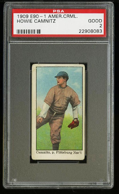 Image of: 1909 E90-1 American Caramel Howie Camnitz PSA 2 GD (PWCC)