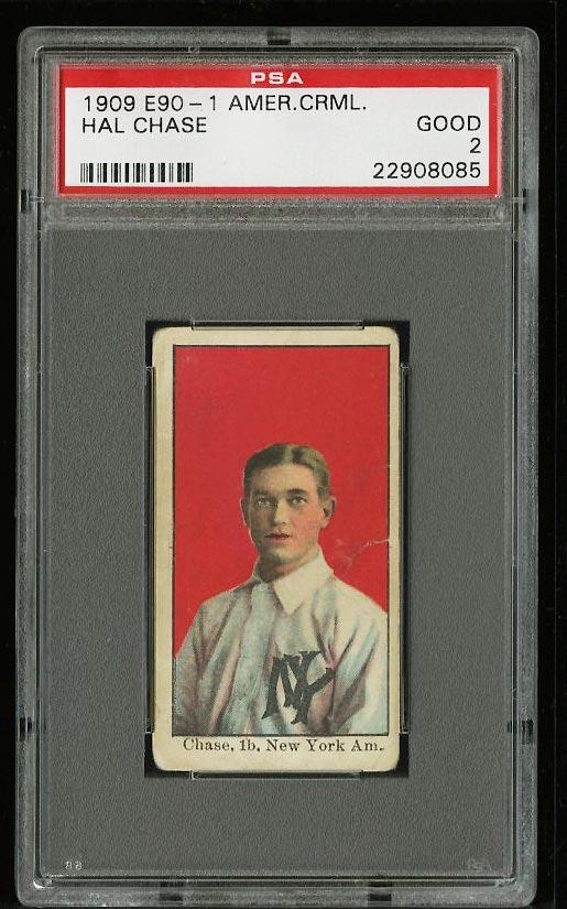 Image of: 1909 E90-1 American Caramel Hal Chase PSA 2 GD (PWCC)
