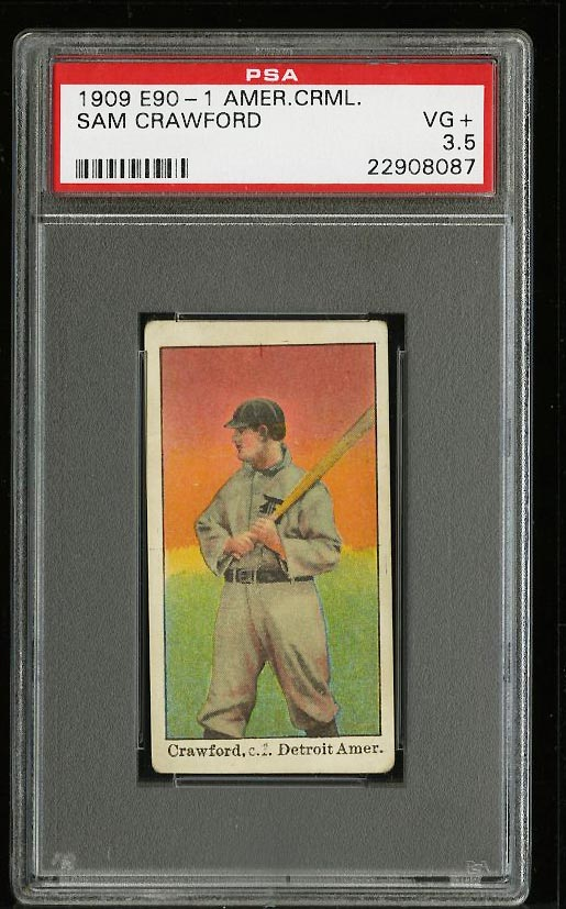Image of: 1909 E90-1 American Caramel Sam Crawford PSA 3.5 VG+ (PWCC)