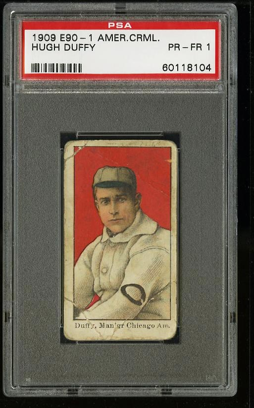 Image of: 1909 E90-1 American Caramel Hugh Duffy PSA 1 PR (PWCC)