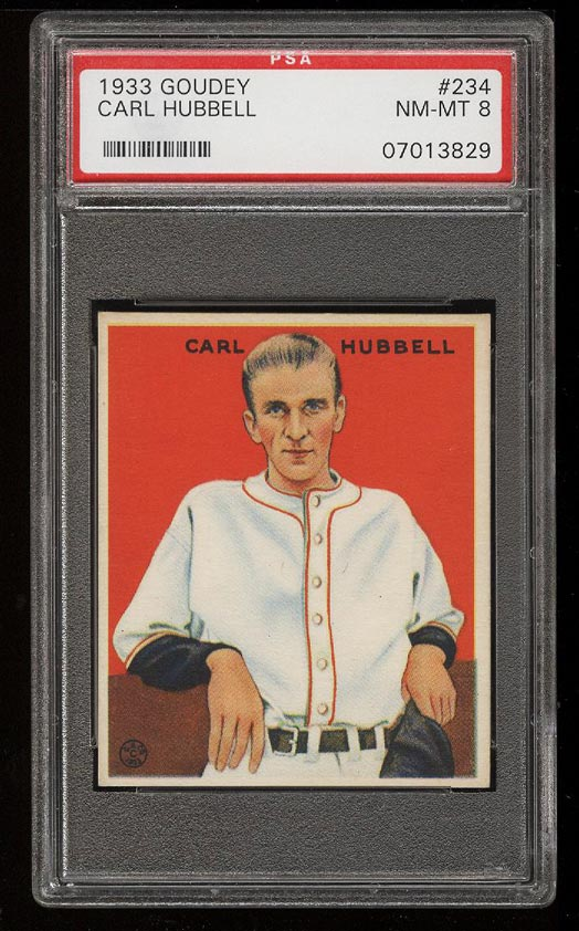 Image of: 1933 Goudey Carl Hubbell #234 PSA 8 NM-MT (PWCC)