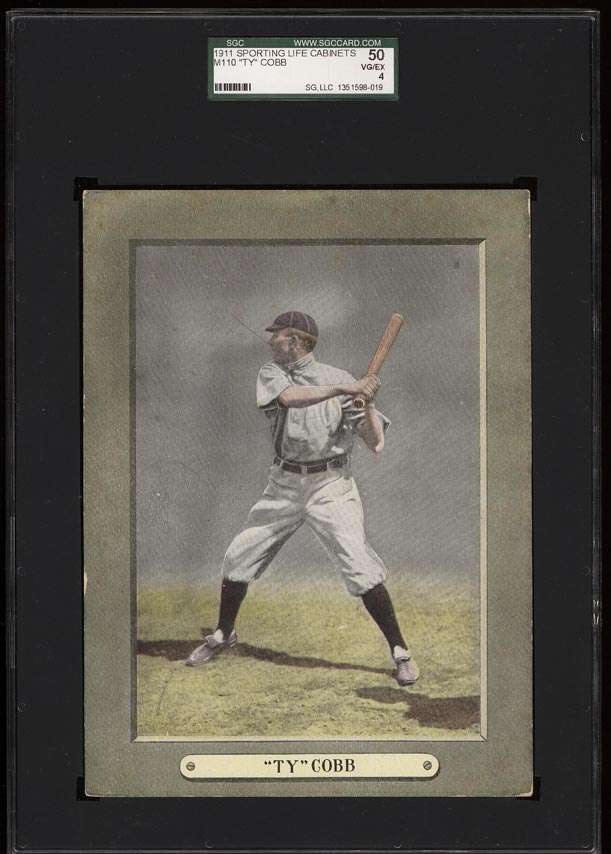 Image of: 1911 M110 Sporting Life Cabinets Ty Cobb SGC 4/50 VGEX (PWCC)