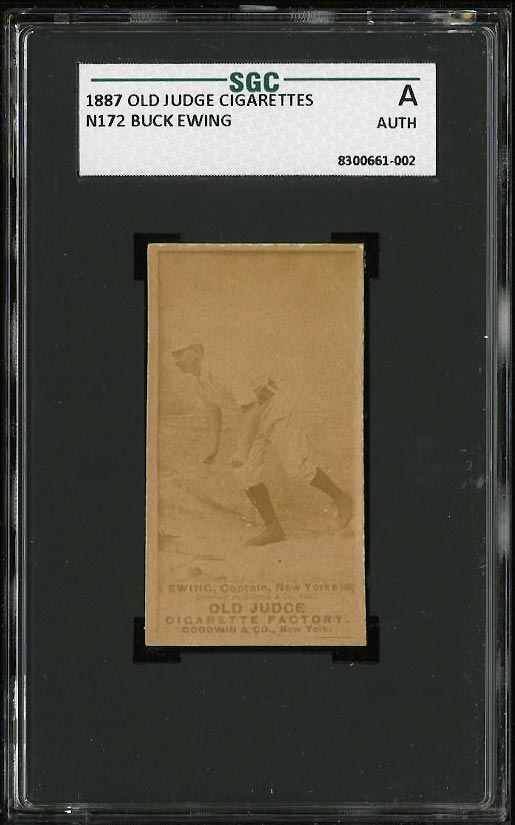 Image of: 1887 N172 Old Judge Buck Ewing SGC AUTH (PWCC)