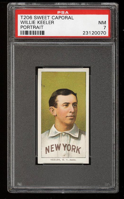 Image of: 1909-11 T206 Willie Keeler PORTRAIT PSA 7 NRMT (PWCC)