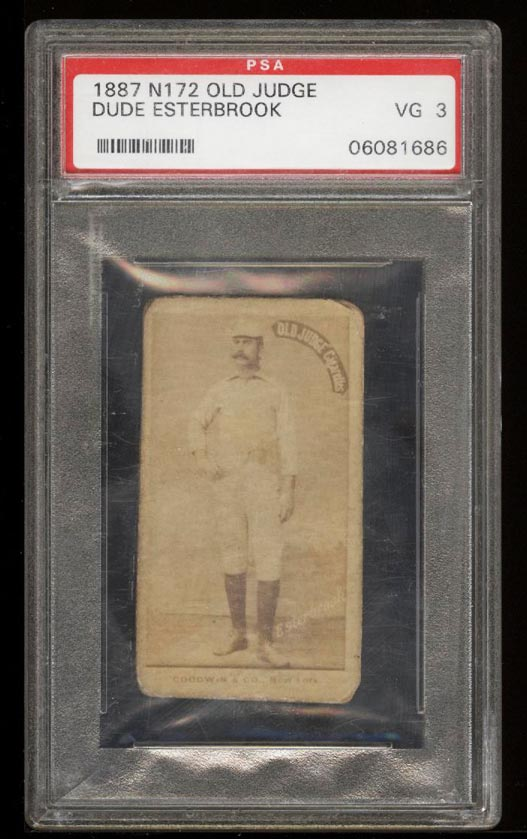 Image of: 1887 N172 Old Judge Dude Esterbrook PSA 3 VG (PWCC)