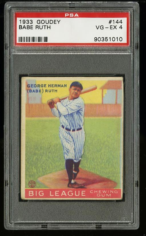 Image of: 1933 Goudey Babe Ruth #144 PSA 4 VGEX (PWCC)
