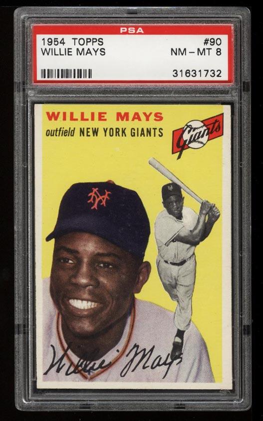 Image of: 1954 Topps SETBREAK Willie Mays #90 PSA 8 NM-MT (PWCC)