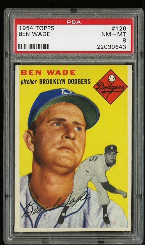Image of: 1954 Topps SETBREAK Ben Wade #126 PSA 8 NM-MT (PWCC)