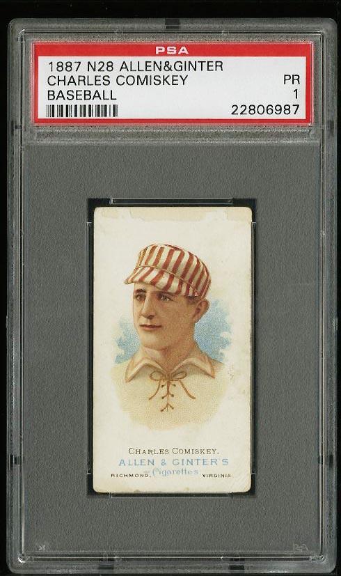 Image of: 1887 N28 Allen & Ginter Charles Comiskey PSA 1 PR (PWCC)