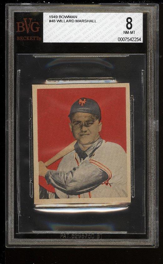 Image of: 1949 Bowman Willard Marshall #48 BVG 8 NM-MT (PWCC)