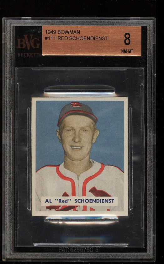 Image of: 1949 Bowman Red Schoendienst #111 BVG 8 NM-MT (PWCC)