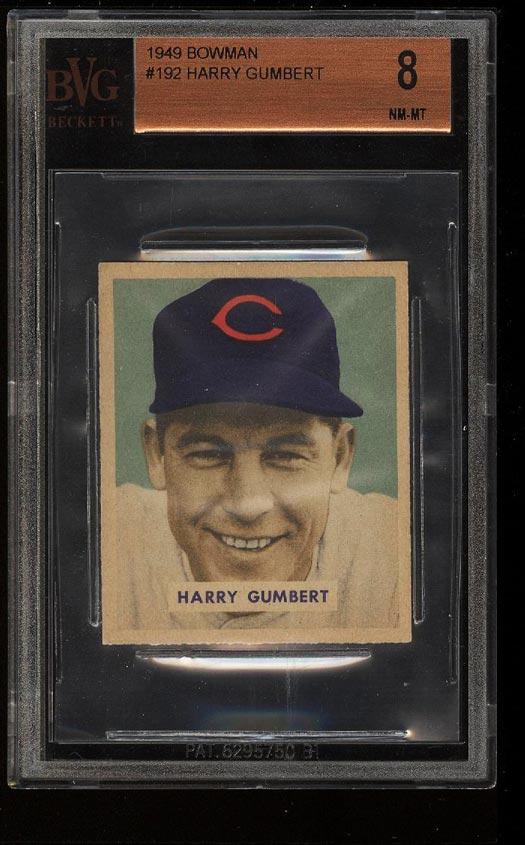 Image of: 1949 Bowman Harry Gumbert #192 BVG 8 NM-MT (PWCC)