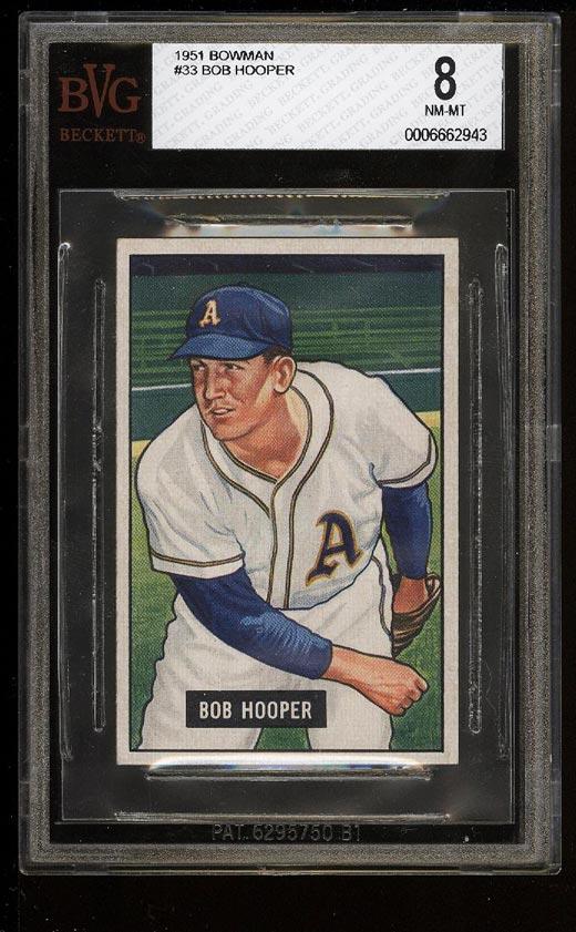 Image of: 1951 Bowman Bob Hooper #33 BVG 8 NM-MT (PWCC)