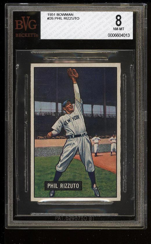 Image of: 1951 Bowman Phil Rizzuto #26 BVG 8 NM-MT (PWCC)