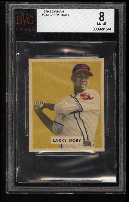 Image of: 1949 Bowman Larry Doby #233 BVG 8 NM-MT (PWCC)