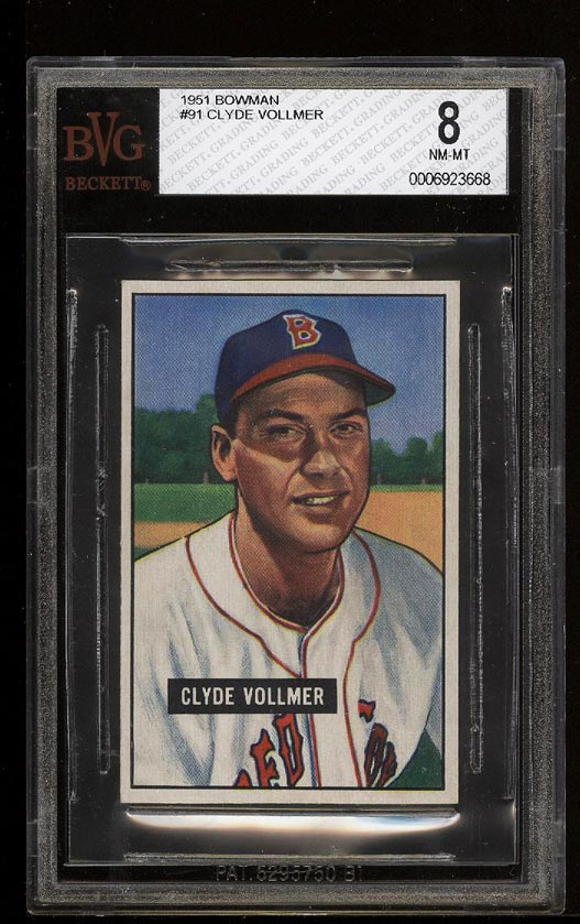 Image of: 1951 Bowman Clyde Vollmer #91 BVG 8 NM-MT (PWCC)